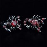 Рубиновый Скорпион Запонки