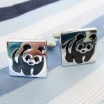 Запонки Панда
