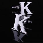 Буква К стальная Запонки