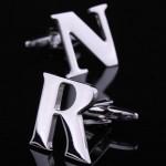 Буквы R и N стальные Запонки