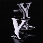 Буква Y стальная Запонки