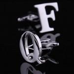 Буквы Q и F стальные Запонки
