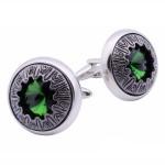 Зеленый бриллиант Запонки