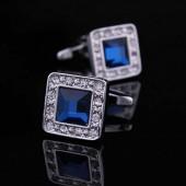 Синий кристалл Запонки