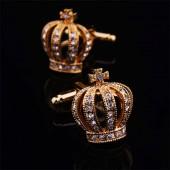 Золотая корона Запонки