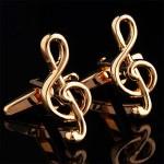 Золотой ключ скрипичный Запонки