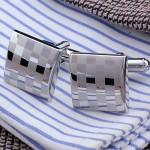 Шахматная доска серебряная Запонки