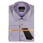 MONDIGO Лиловая рубашка под запонки
