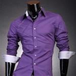 Фиолетовая Slim Fit рубашка
