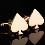 Золотое сердце Запонки