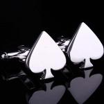 Серебряное сердце Запонки