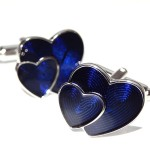 Два синих сердца Запонки